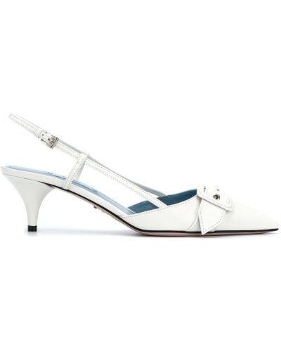 Туфли с ремешком с открытой пяткой Prada