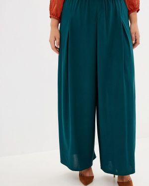 Свободные брюки зеленый расклешенные Blagof