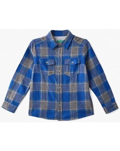 Синяя рубашка United Colors Of Benetton