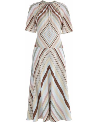 Платье миди со складками с вырезом Valentino