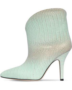 Кожаные ботинки на каблуке с острым носом Paris Texas