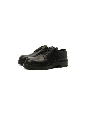 Черные итальянские туфли Valentino