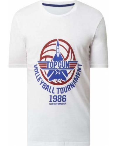 T-shirt z printem - biała Top Gun