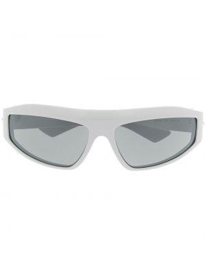 Белые солнцезащитные очки для полных Bottega Veneta Eyewear