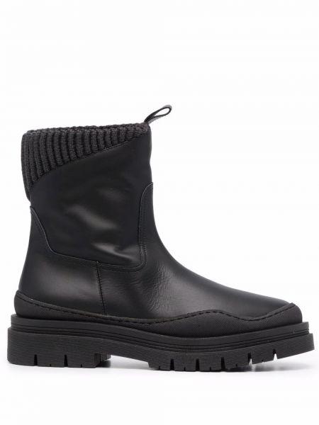 Черные кожаные носки Lorena Antoniazzi