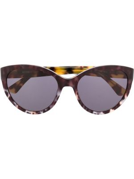 Прямые муслиновые солнцезащитные очки хаки Moschino Eyewear