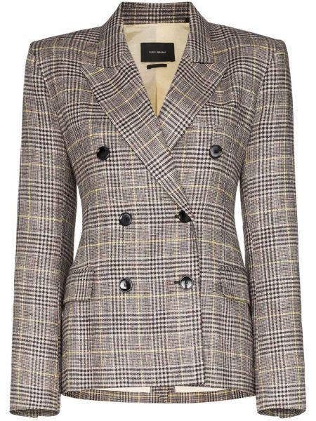 Серый пиджак двубортный с карманами Isabel Marant