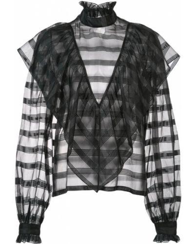 Блузка с длинным рукавом прозрачная с манжетами Jill Stuart
