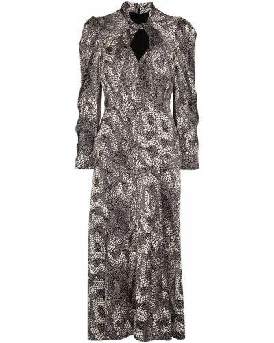 Платье макси с длинными рукавами - черное Isabel Marant