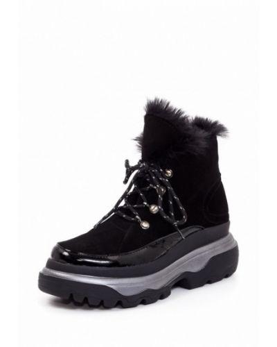 Ботинки на каблуке осенние из нубука Kuva