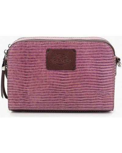 Кожаная сумка через плечо фиолетовый Trevor