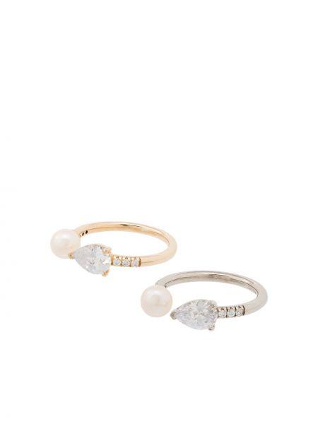 Chudy srebro pierścień z perłami Apples & Figs