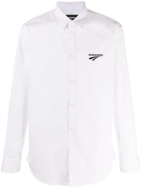 Koszula z długim rękawem klasyczna z logo Dsquared2