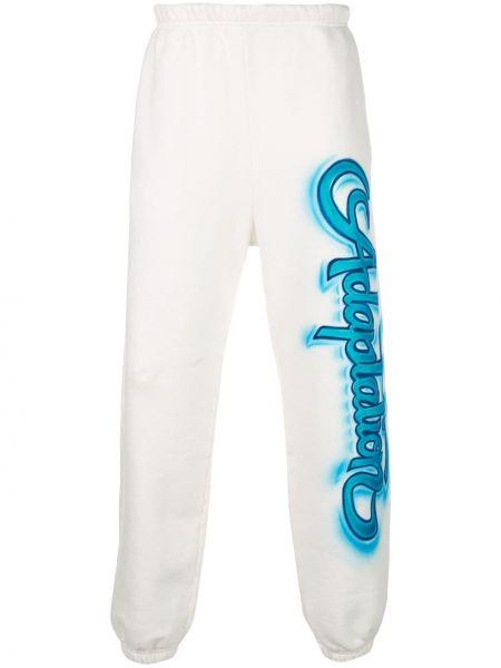 Białe spodnie z wysokim stanem bawełniane Adaptation