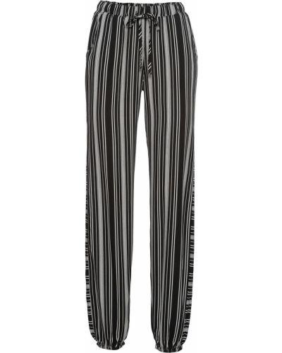 Свободные брюки в полоску белые Bonprix