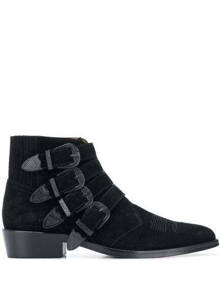 Черные кожаные ботинки с пряжкой Toga Virilis