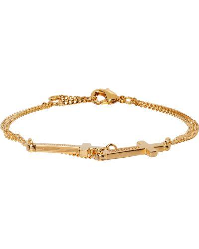 Złota bransoletka łańcuch Dsquared2