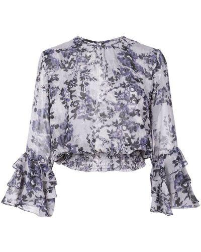 Блузка с рюшами с цветочным принтом Misa Los Angeles