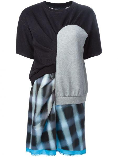 Хлопковое черное футбольное платье пэчворк Marc By Marc Jacobs