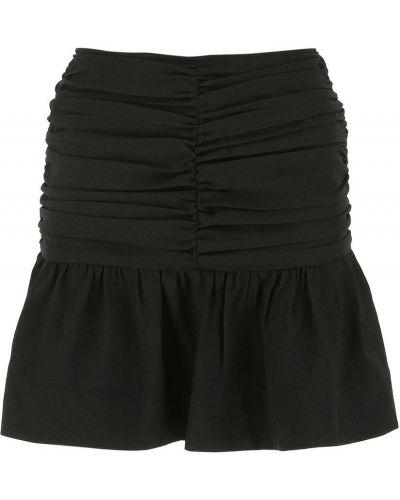 Spódniczka mini z falbanami - czarna Ganni