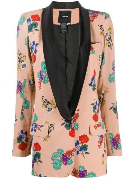 С рукавами удлиненный пиджак на пуговицах из вискозы Smythe