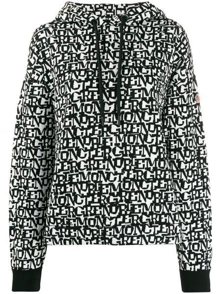 Czarna bluza długa z kapturem z długimi rękawami Moncler Grenoble