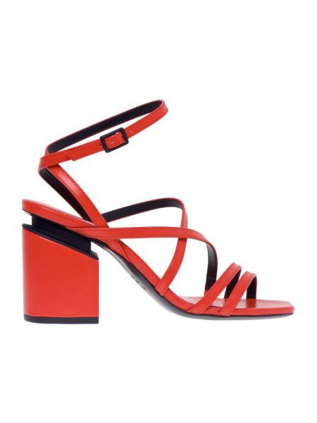 Czerwone sandały skorzane Vic Matie