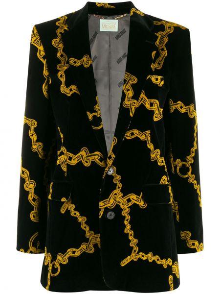 Прямой черный классический пиджак с карманами Aries