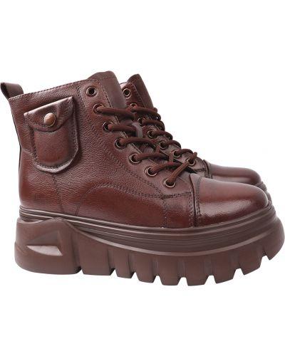 Кожаные ботинки - коричневые Berkonty