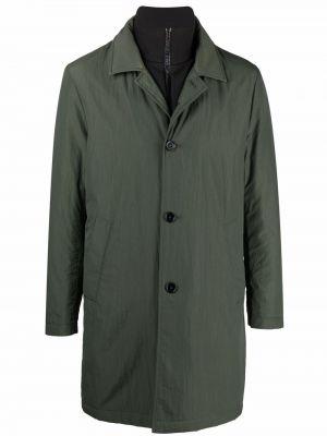 Зеленое пальто с воротником Fay