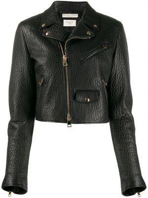 Кожаная куртка черная стеганая Bottega Veneta