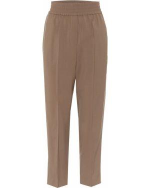 Lato spodnie elastyczne wełniane Brunello Cucinelli
