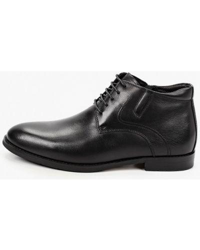 Черные кожаные ботинки Zenden