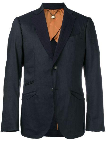 Деловой пиджак на пуговицах с манжетами с карманами Maurizio Miri
