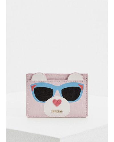Розовая визитница Furla