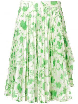 Zielona spódnica z wysokim stanem z jedwabiu Calvin Klein 205w39nyc