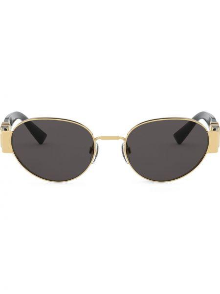 Черные солнцезащитные очки металлические Valentino Eyewear