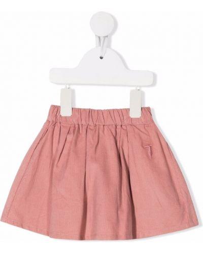 Spódnica rozkloszowana - różowa Trussardi Junior