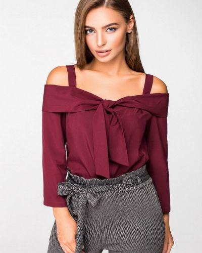 Блузка с открытыми плечами красная Itelle