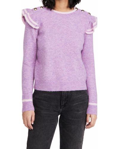 Розовый шерстяной длинный свитер с длинными рукавами Generation Love