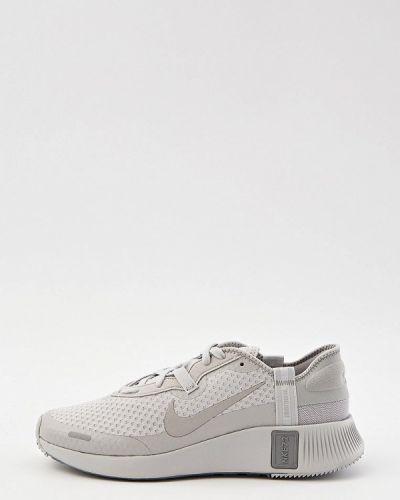 Серые кожаные низкие кроссовки Nike
