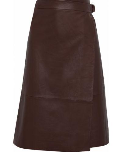 Кожаная юбка с подкладкой с пряжкой Iris & Ink