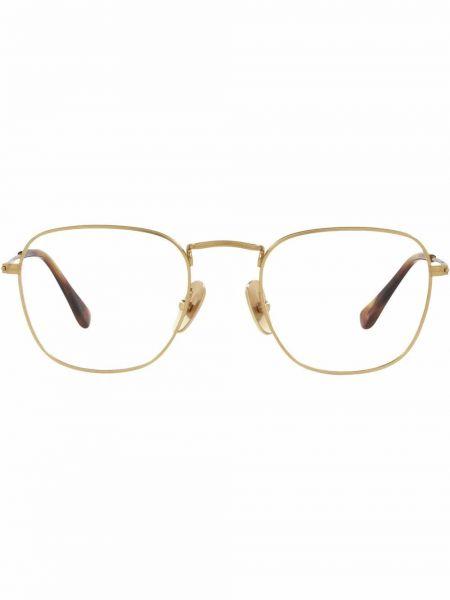 Złote okulary - białe Ray-ban