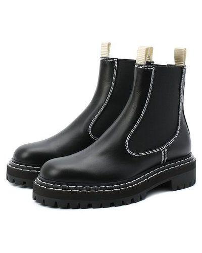 Комбинированные черные кожаные ботинки челси Proenza Schouler