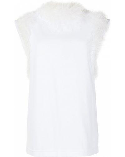 Белая блузка без рукавов Dolce & Gabbana