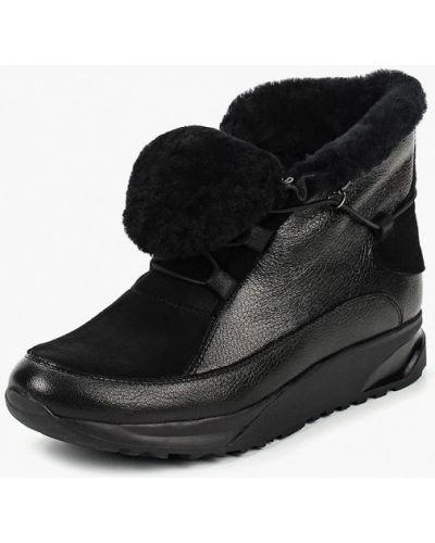 Высокие кроссовки черные велюровые Provocante