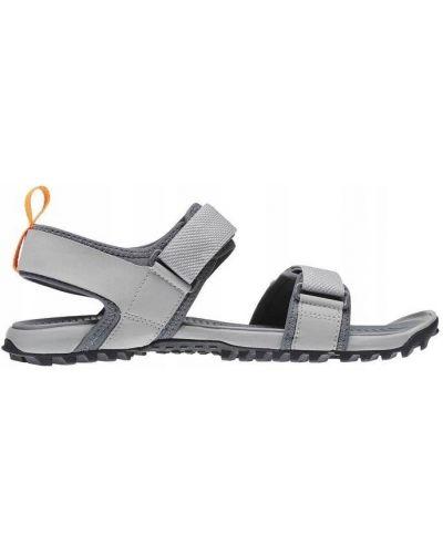 Szare sandały na rzepy sportowe Reebok
