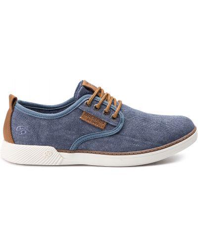 Кожаные туфли - синие Dockers By Gerli