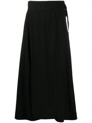 Черная с завышенной талией юбка миди на молнии с вырезом Victoria Beckham