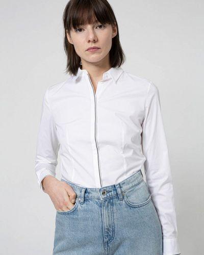 Белая рубашка с длинными рукавами Hugo